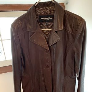 Kenneth Cole leather jacket Sz L